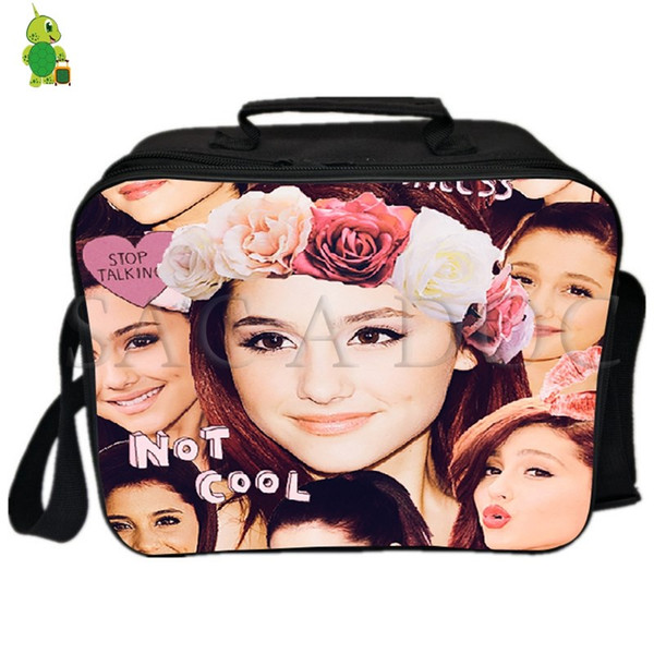 Ariana Grande Collages Lunch Bag Women Men Fresh Keeping Cooler Bag Insulation Thermal Ice Pack Drink Picnic