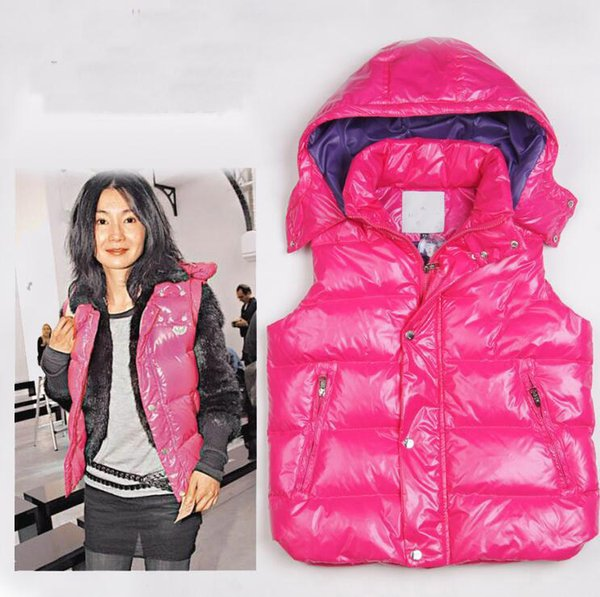 2019 Fashion New Winter Down Vest for Women Coat Slim Design Vests Female Brand Sleeveless Jacket Woman Black Purple Red Brown Cheap sale