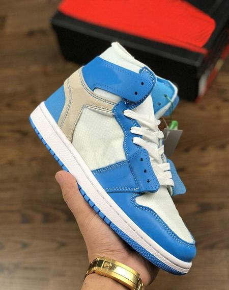 (with box)1 1s off UNC men women basketball shoes NRG white Chicago blue red trainers sports shoes sneakers us 5.5-13