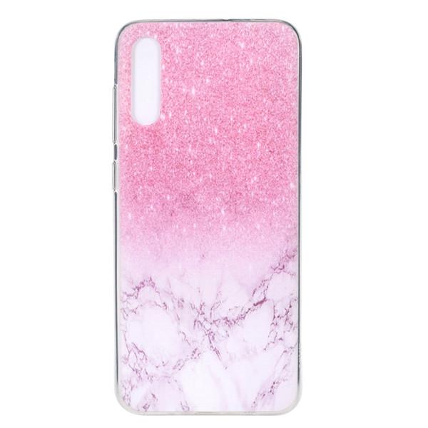 Für samsung galaxy a70 case abdeckung transparent weiche tpu farbe dekoration tower bike butterfly girl handy fällen