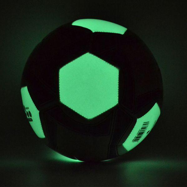 Balón de fútbol Luminoso Fútbol Noche Luz Noctilucente Juego de Niños Juego de Luminiscencia Bola Hombres Mujeres Brillante Tamaño de fútbol # 4 # 5