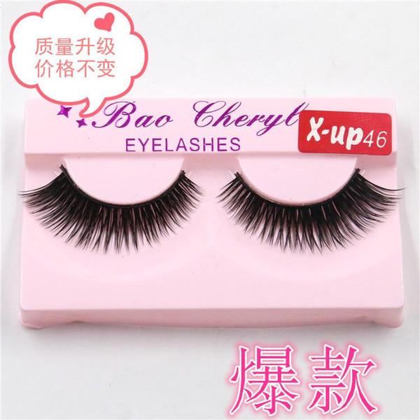 2019 hot X-up46 single pair false eyelashes fine false eyelashes wholesale hair fine eyelashes free shipping