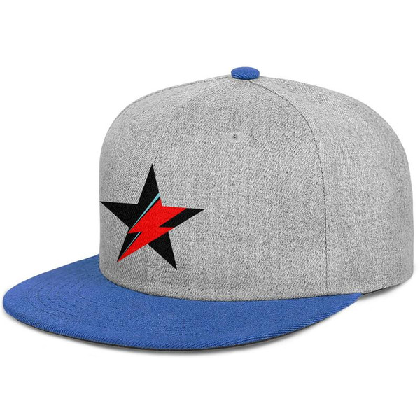 David Bowie lightning mens and women flat brim hats blue snapback cool kids hats custom kids make your own fashion custom retro unique cl