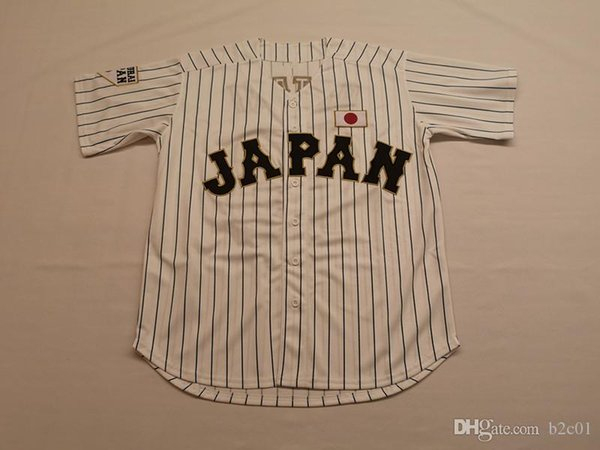 Japan Samurai 16 Shohei Ohtani White Baseball Jersey Men