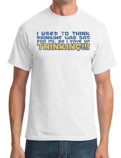 Раньше я думал, что пить было плохо для меня, поэтому я отказался от мысли, что футболка вязаная удобная ткань напечатана вокруг шеи хлопок высшего качества