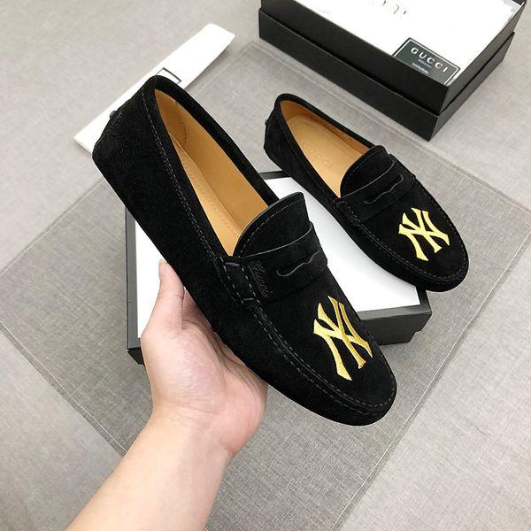 Chaussures pour hommes italiens Casual Luxury Brands Été Mocassins Mocassins en cuir véritable Confortables et respirantes Chaussures bateau