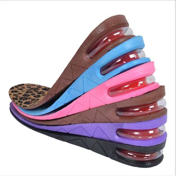 1Pair High Quality Shoes Cushion Heel Lift Insoles-Height Adjustable Increase Height Shoe Insert Pads Two Layers For Men Women