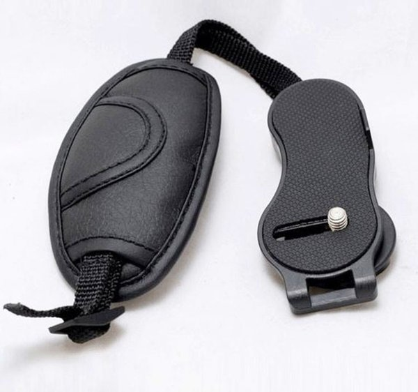 Hot Black Hand Grip Camera Strap PU Leather Hand Strap For Dslr Camera for Olympus Nikon Canon EOS D800 D7000 D5100 D3200