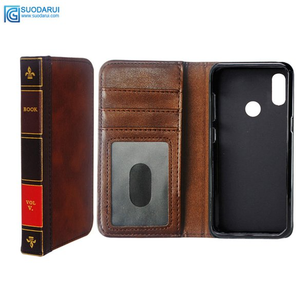 Flip Leather cell Phone Case for OPPO Realme 3 Pro Cover Wallet Retro Bible Vintage Book Business Pouch