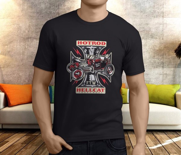 Nuevo Popular Hotrod Hellcat Motor Oil Rockagogocom NHRA camiseta negra para hombre S-3XLFunny envío gratis Unisex Camiseta Casual top