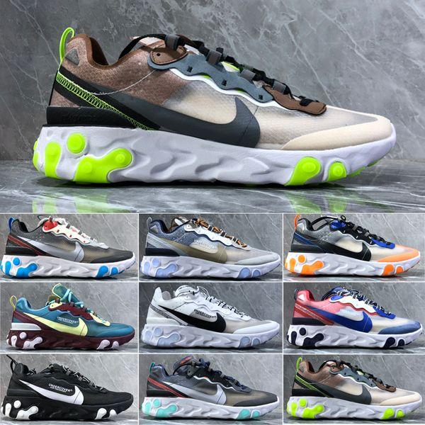 nike Air max Epic React Element 87 2019 Reagir Elemento 87 Volt 55 Jogo Real gravada pelas costuras tênis para mulheres homens 55s Blue Chill instrutor 87s Sail Sports Sneakers HS2