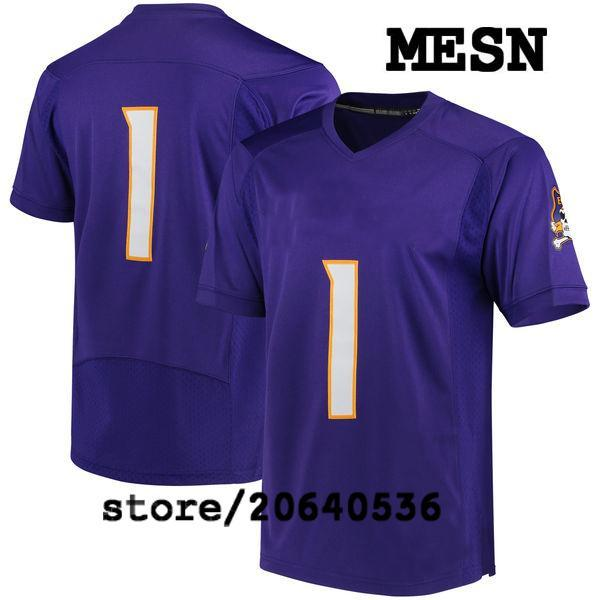 Cheap Custom East Pirates College jersey Mens Women Youth Kid Personalized Any number of any name Stitched Blue Football jerseys