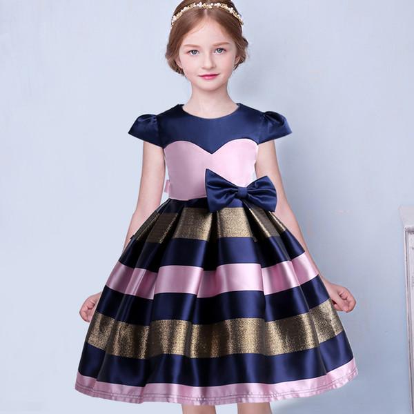 Çocuklar Kızlar Düğün Için Zarif Elbise Kız Parti Resmi Vestido Çocuk Kız Elbise Prenses Doğum Günü Hediyesi Kostüm