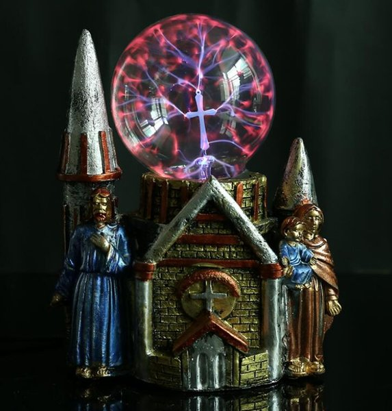 Resin crafts magic ball castle double creative fashion crystal luminescent magic ball KT cat magic ball crafts factory outle