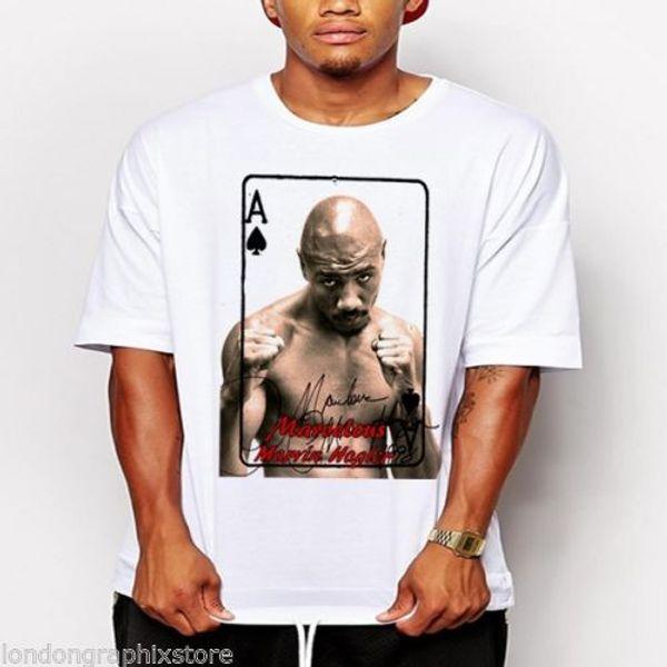 Boxe, Marvin Hagler T-Shirt, Muhammad Ali, Sonny Liston, cartaz, cassius clayFunny frete grátis Unisex presente Ocasional