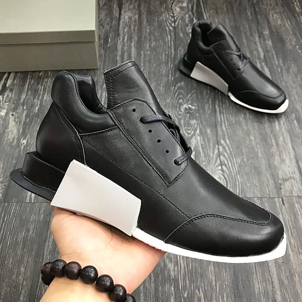 2018 American luxury brand trend men's sports shoes with exquisite outsole leather strap design high-grade outdoor casual running qo