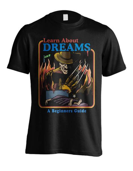Adulte Coupe Slim Fit S-Xxl Manches Courtes Hommes Mode Col Rond Cauchemar Sur Elm Street Dreams T-Shirts