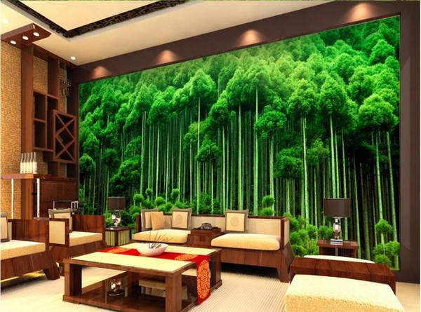 WDBH 3d wallpaper custom photo Green fresh bamboo forest tv background living room home decor 3d wall murals wallpaper for walls 3 d