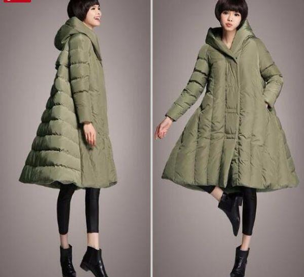 A-line Hooded Down Coat Jacket,Women Coat Custom Made Winter Duck Down Jacket Plus Size