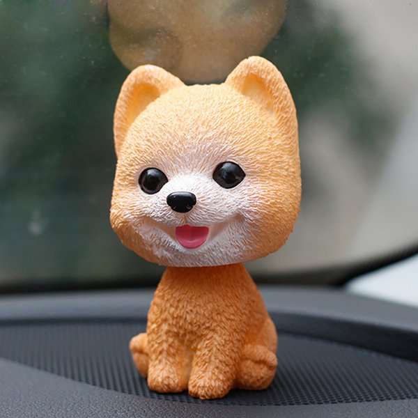 3 pcsOrnamenti Bobblehead Dog Annuendo Puppy Toys Car Dashboard Decor Toy Bella oscillazione Testa di aggrovigliamento Bambole Auto Interno Accessorio C19041201