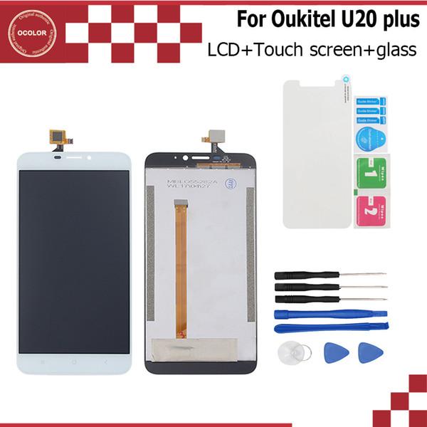 ocolor per Oukitel U20 Plus Display LCD + Touch Screen Assembly Repair Parte 5.5 pollici LCD Digitizer Panel + Strumenti + nastro + vetro