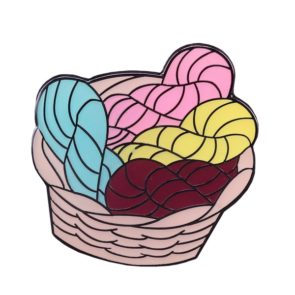 2019 Yarn Basket Hard Enamel Pin Crochet Knit Brooches Lovely Craft Accessory Knitters Flair Badge Creative Yarn Fans Gift From Simida265, $1.81 |