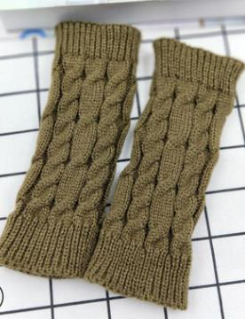 Men and women autumn and winter half finger wool warm knitting gloves winter twist patterns short gloves sleeves