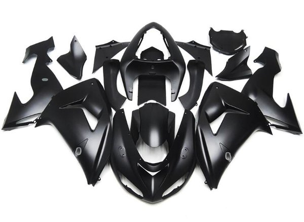 3Gifts New ABS Fairings For Kawasaki Ninja ZX-10R ZX10R 2006 2007 06 07 ABS Fairing Kit Bodywork set nice all black matte