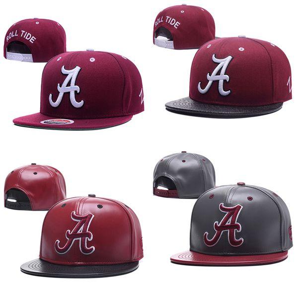 Toptan kolej futbol şapkalar alabama crimson gelgit caps gri kırmızı snapbacks şapka yetişkin işlemeli kap mix sipariş ücretsiz kargo