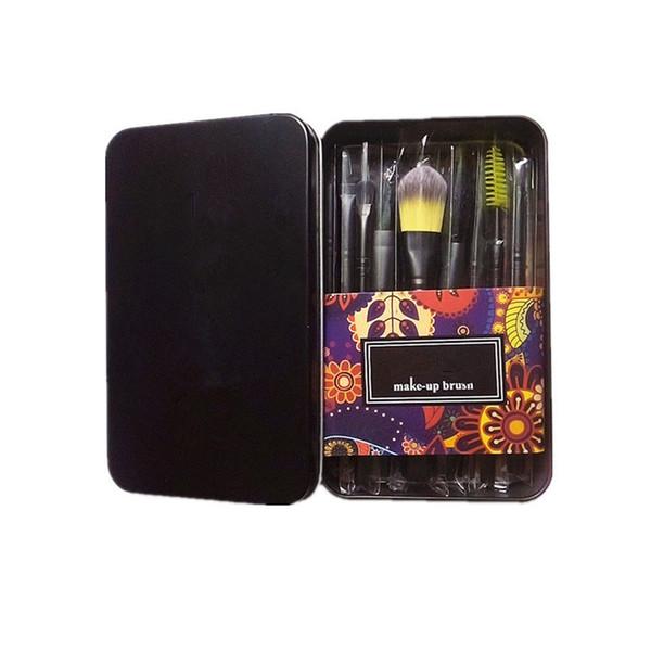 Multifunction Wood Handle Makeup Brushes Set Powder Foundation Eye Shadow Eyebrow Eyelash Make-up Brush Kits 12Pcs set With Brush Box .