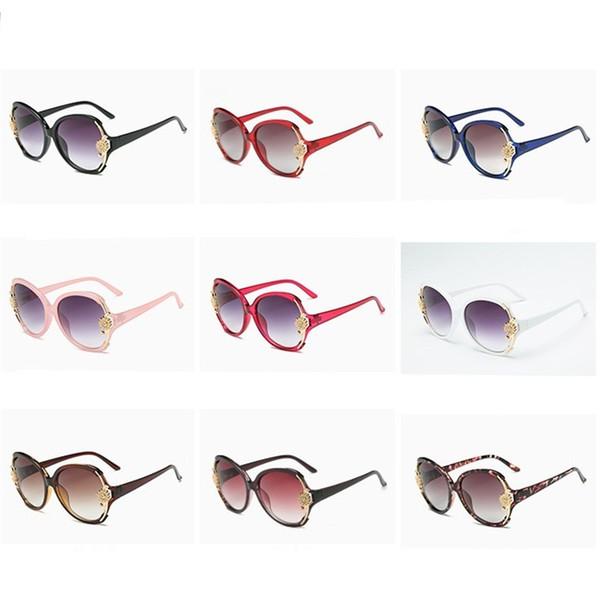 dd85fd62d5a9 flower eyeglass frames Coupons - Retro Sunglasses Flower Decoration  Eyeglasses Elegant Ladies Metal Full Frame Multi