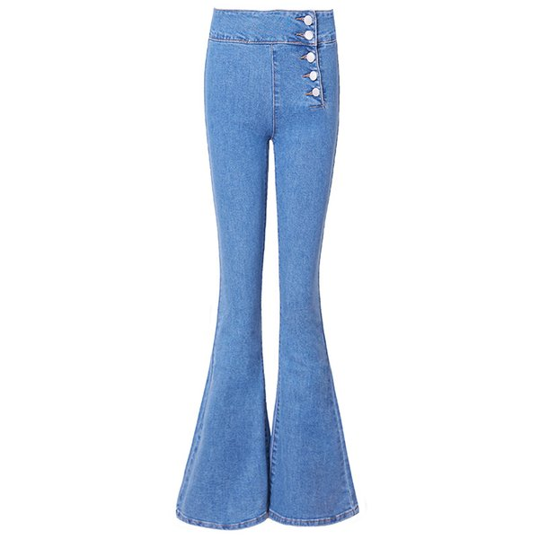Free Shipping 2019 New Fashion Long Jeans Pants For Women Boot Cut Trousers Plus Size 25-30 High Waist Denim Stretch Jeans
