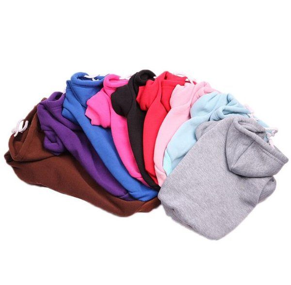 New Dog Clothes Autumn Winter Pet Clothing Warm Hoodies Sweater Puppy Casual Outfit Coat Teddy Fashion Solid Coat Apparel 10 Colors