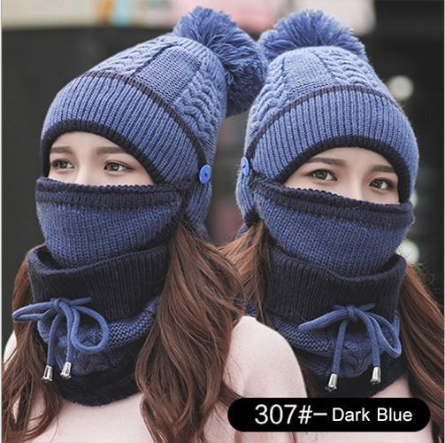 Trendy Apparel Shop Winter Knit Cuff Beanie Hat and Infinity Scarf 2 Piece Set