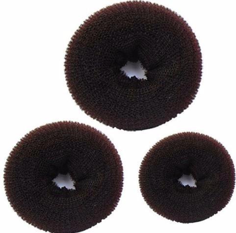 3 pezzi Sponge Braider Donna Bun Bun Ring Donut Shaper Maker 3 dimensioni Cee Hair Clips