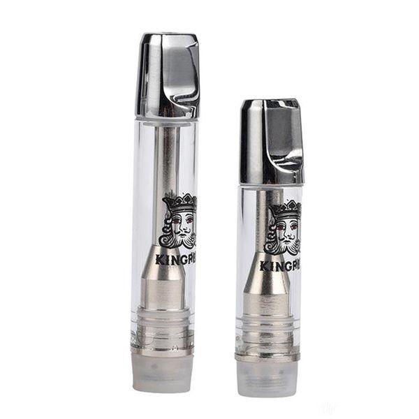 Newest Kingpen Vape Cartridge Packaging Childproof Container Kingpen Vaporizer Pen Cartridges Pyrex Glass Vape Pen 1.0ml Ceramic Coil