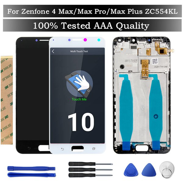 """Tested Screen For Asus Zenfone 4 Max/Max Pro/Max Plus ZC554KL LCD Display+ Frame 5.5"""" Digitizer Assembly Replacement Spare Parts"""