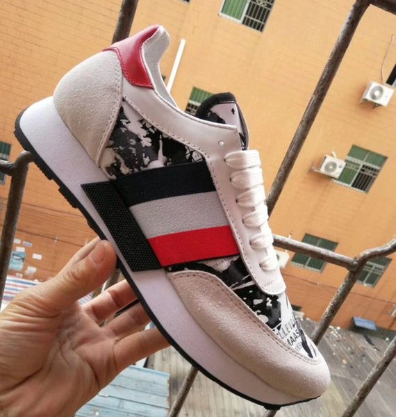New Name Brand Casual Shoe Man Red Bottom Sneaker Flat Designer Lace Up High Mixed Colors Black White Trainers Size 38-46 mn189601