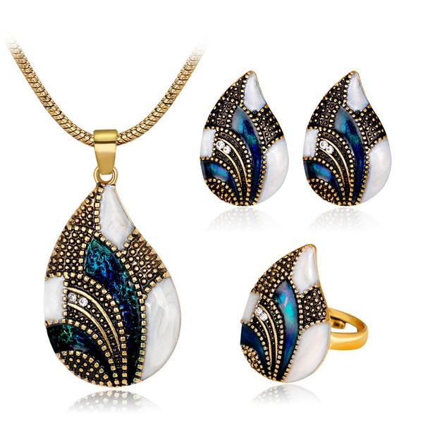 Ожерелье / серьги / ювелирные изделия кольца Личность Изысканный Fabala Kit Shell Shape Wedding