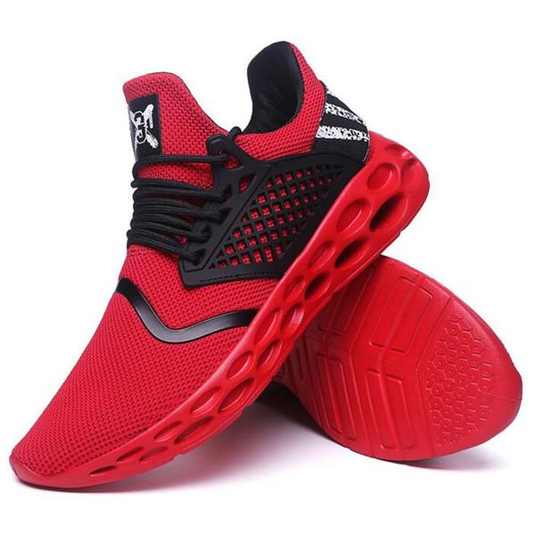 Yeni mevsim moda nefes erkek ayakkabı eğilim vahşi öğrenci rahat ayakkabılar örgü örgü ışık ayakkabı yüksek kalite