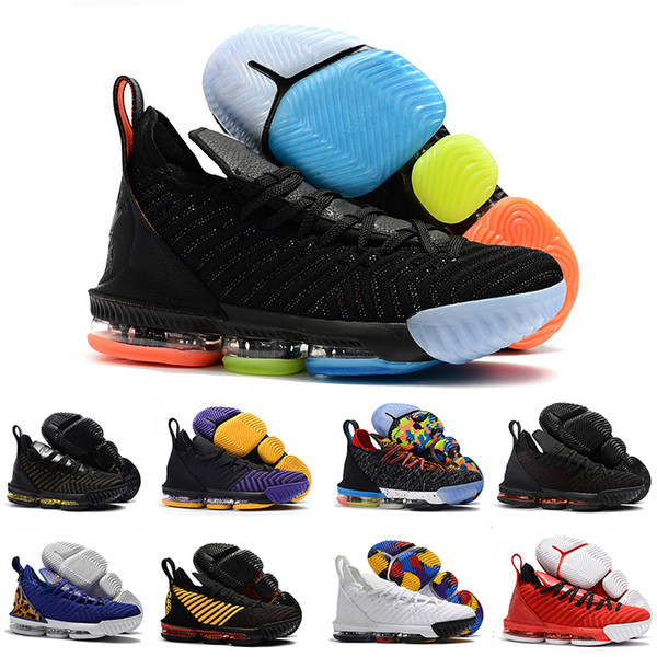Mens lebron Shoes 16 basketball shoes Multi color Fruity Pebbles Gold Black Purple Leopard Red Boys Girls Women youth kids sneakers boots