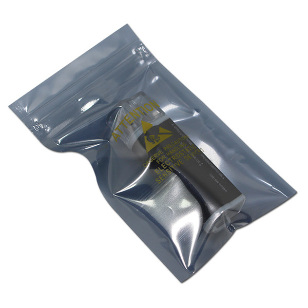 2000Pcs Wholesale Plastic Zip Lock Antistatic Package Bag with Printed Self Seal Zipper Pouch for Sundries Electronics Storage