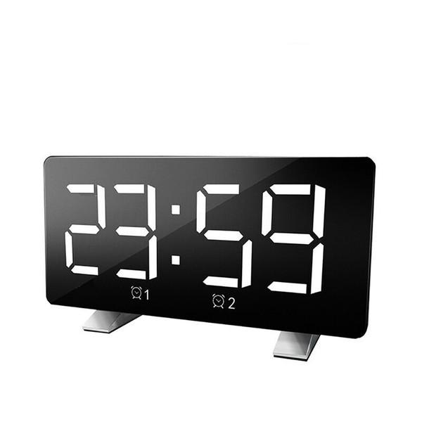 Digital desktop Despertar USB carregamento com luz de alarme clock decoração Retângulo quartos casa Display LED Musicoterapia