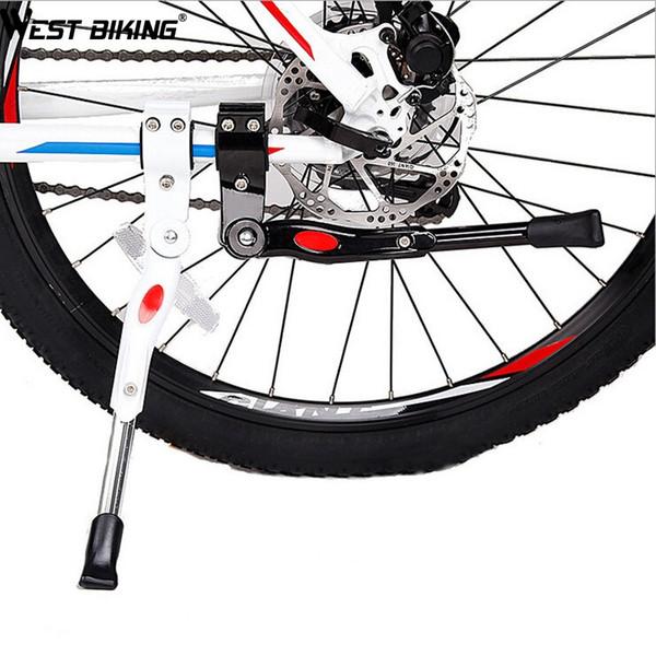 WEST BIKING Bicicleta Da Bicicleta Ajustável de Alumínio Da Bicicleta Kickstand Estrada Bicicleta Side Stick Stand Ciclismo Kickstand # 577054