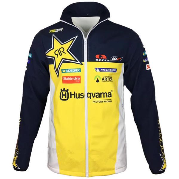 New arrival for Husqvarna motocross Sweatshirts Outdoor sports Softshell Jacket motorcycle racing jackets With zipper Keep warm