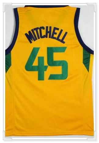 Utah squadra # 45 Mitchell - giallo