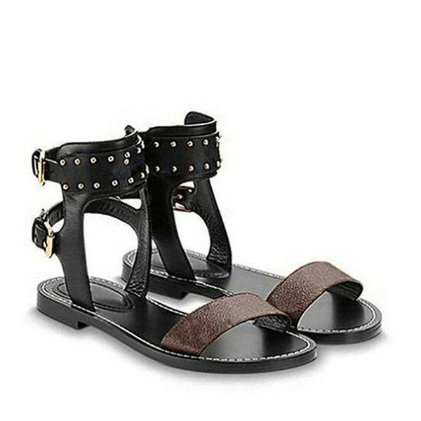 Lüks kadın nomad sandalet Yaz Bayanlar Tuval gladyatör tarzı daireler için sandalet siyah altın sandalet Parti Seksi Moda Bayanlar Ayakkabı Q15