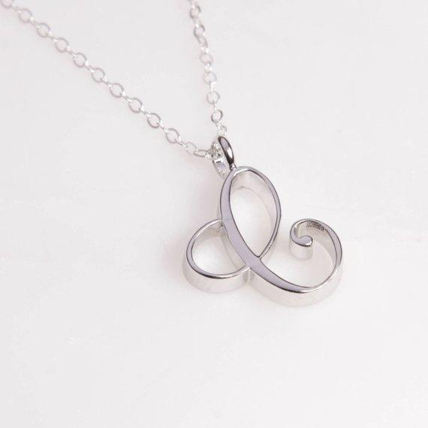 1pcs monogram English Initial Alphabet C Necklace English Initial Letter C monogram charm Metal pendant necklace for Engagement jewelry
