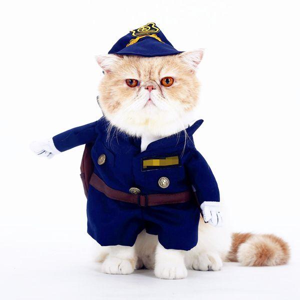 Cat Costumes For Pets Dog Cat Clothes Costume Dress Doctor Nurse Cowboy Sailor Autumn Winter Funny Suit Outfit Cotton Apparel