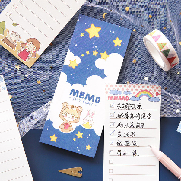 Kawaii Cute Star Fruit Strawberry Memo Pad Word Pocket Book Planner List Agenda Notepad Stationery School Office Supplies sl1906